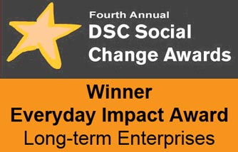 Winners logo of the DSC Social Change Awards 2010